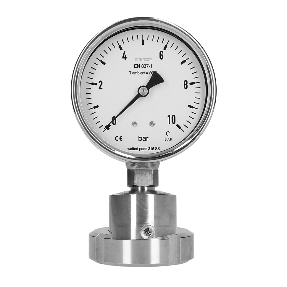 PBQ Sanitaire manometer met chemical seal