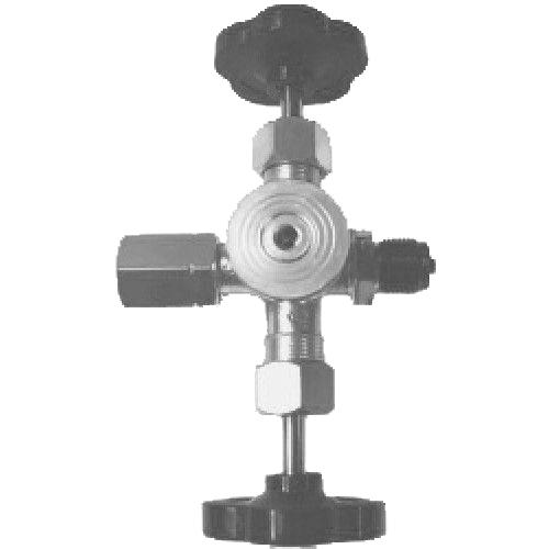 Messing dubbele manometerafsluiter PN 250