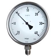 Standaard druk bereik 4 tot 400 mbar