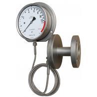 PFQ Sanitaire manometer met chemical seal en afstandsleiding